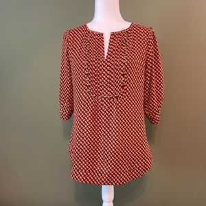41 Hawthorn NWOT 3/4 ruched sleeves w/ studs M